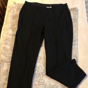 Chico's black pledged front pants SZ 1.5 (8-10)